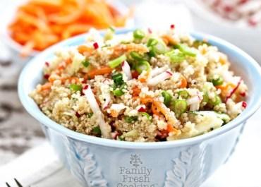 Quinoa & Veggies Lunchbox Power Salad | MarlaMeridith.com
