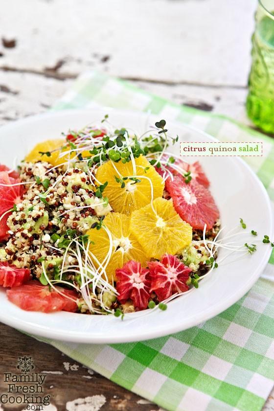 Citrus Quinoa Salad | MarlaMeridith.com