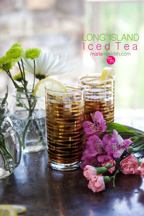 Long Island Iced Tea recipe. Try this classic Marla-cocktail with a modern twist! Get the recipe on MarlaMeridith.com