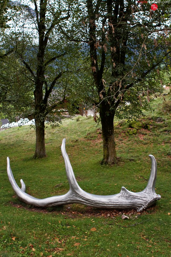 Antler sculpture in the Italian Dolomites. MarlaMeridith.com ( @marlameridith )