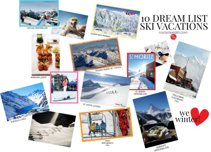10 Dream List Ski Vacations featured on MarlaMeridith.com