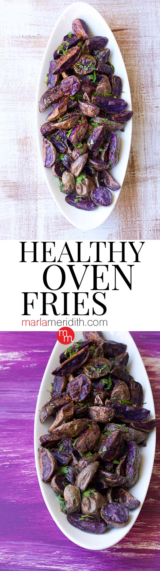 Healthy Oven Fries recipe, guilt free French Fries! MarlaMeridith.com