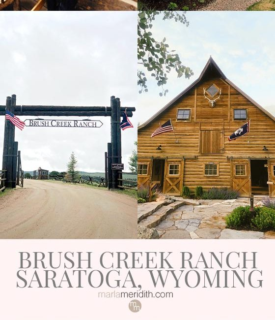The Brush Creek Ranch in Saratoga, Wyoming offers the most luxurious, authentic experience in the Wild West. For more details about this resort visit MarlaMeridith.com