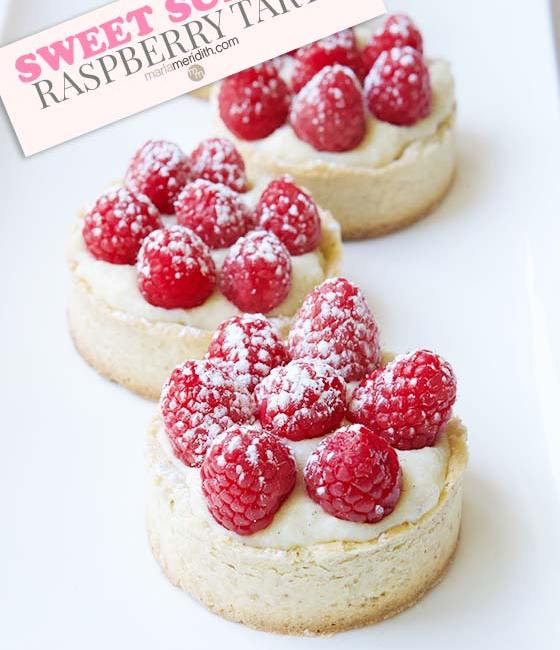 These Sweet Summer Raspberry Tarts will be the hit at your next party! Get the recipe on MarlaMeridith.com