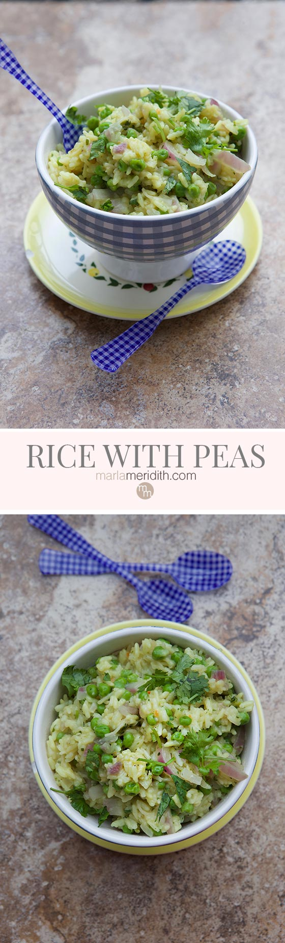 MyRice with Peas recipe is just that...simple, but delicious all the same! marlameridith.com
