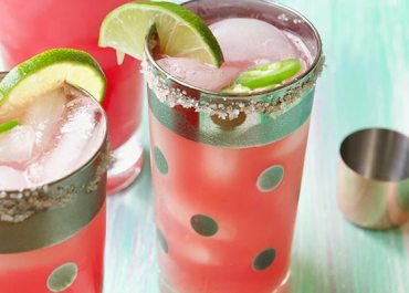 You have gotta try these deliciously, refreshing Smoky Watermelon Jalapeño Margaritas! Get the recipe on MarlaMeridith.com
