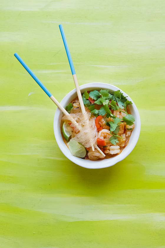 This delicious Quick & Easy Thai Coconut Shrimp Soup recipe can be ready and on your dinner table in just 20 minutes, no need for take-out! MarlaMeridith.com