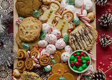 Festive Holiday Cookie Board