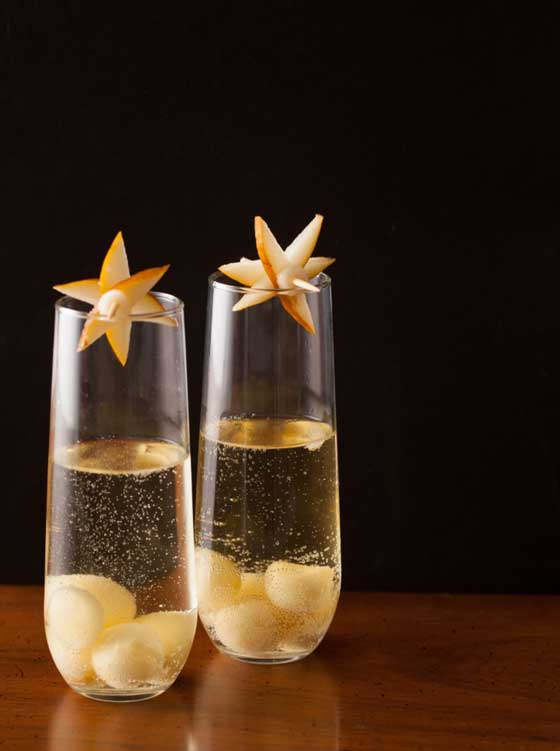 Try this Pear & Bubbles by Spoon Fork Bacon for New Year's Eve!