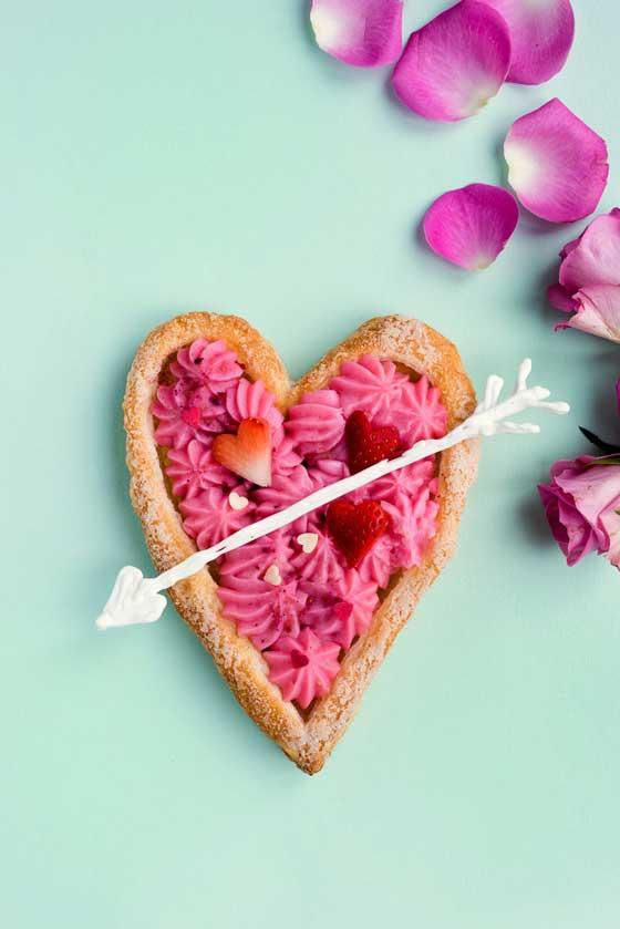 Heart Shaped Rose Tart via Brit & Co.