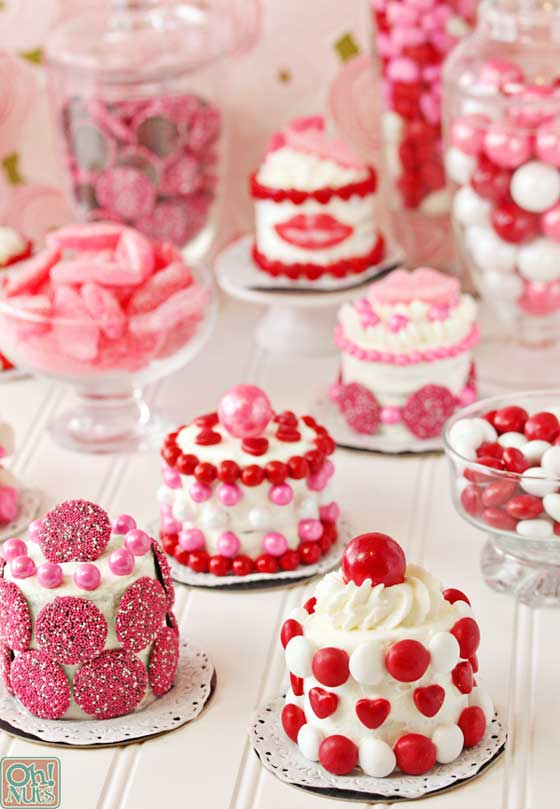 Easy Valentine's Day Mini Treats recipe via Oh Nuts!