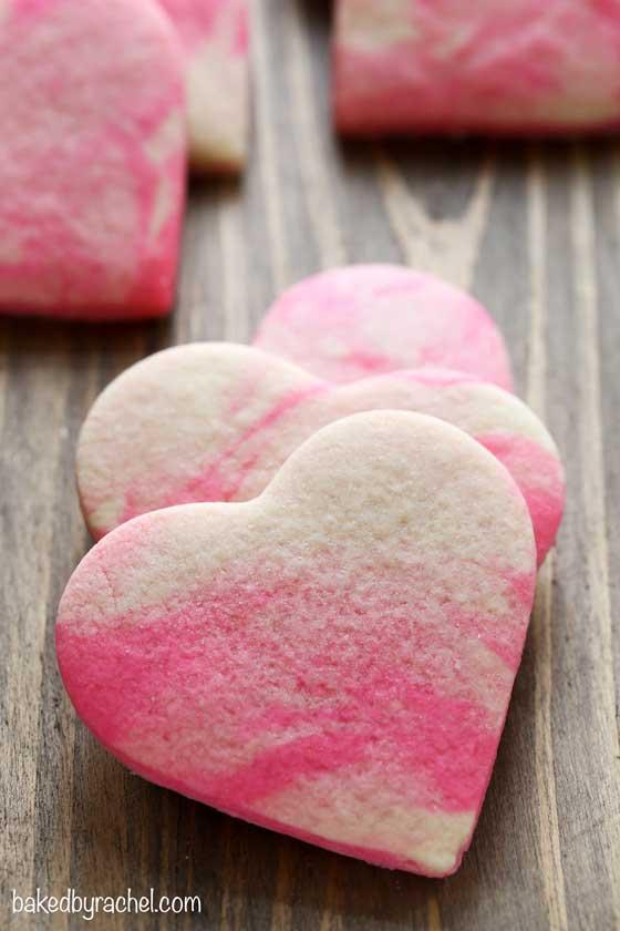 Marbled Sugar Cookies recipe via Baked by Rachel
