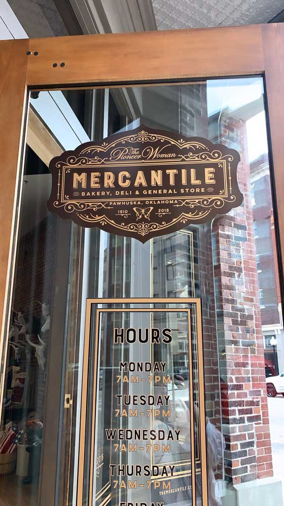 Road Trip USA! The Pioneer Woman Mercantile in Pawhuska, Oklahoma. Such a fun visit to this tasty and inspirational part of America. MarlaMeridith.com
