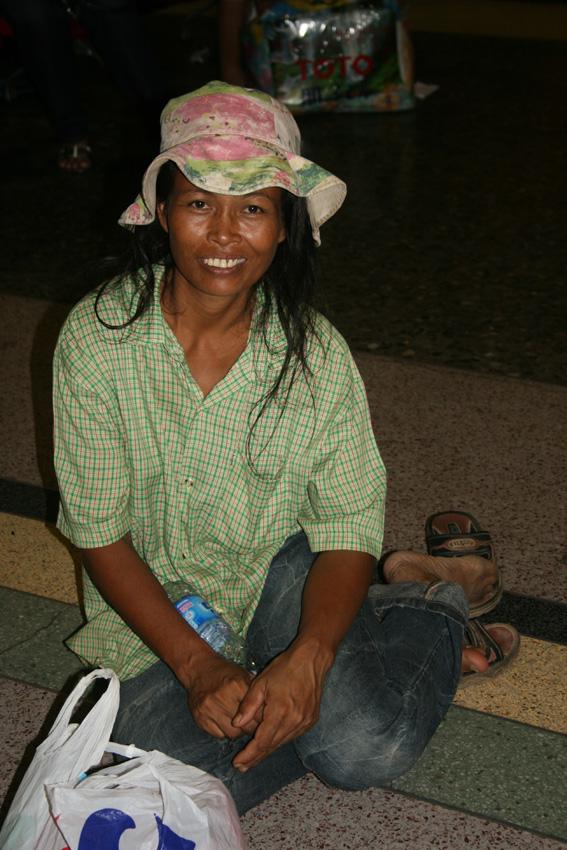 Traveler at Bangkok Train Station