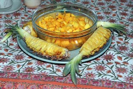 Pineapple and mango
