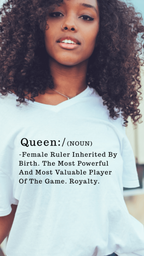 Realqueensapparel.com Definition of A Queen TEE
