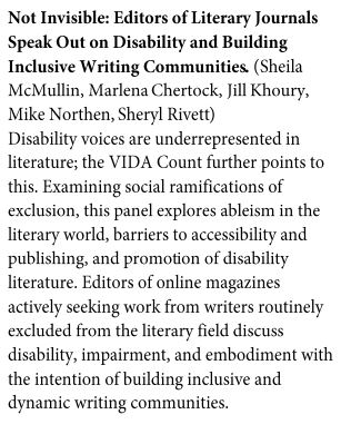 Not Invisible: Editors of Literary Journals Speak Out on Disability and Building Inclusive Writing Communities