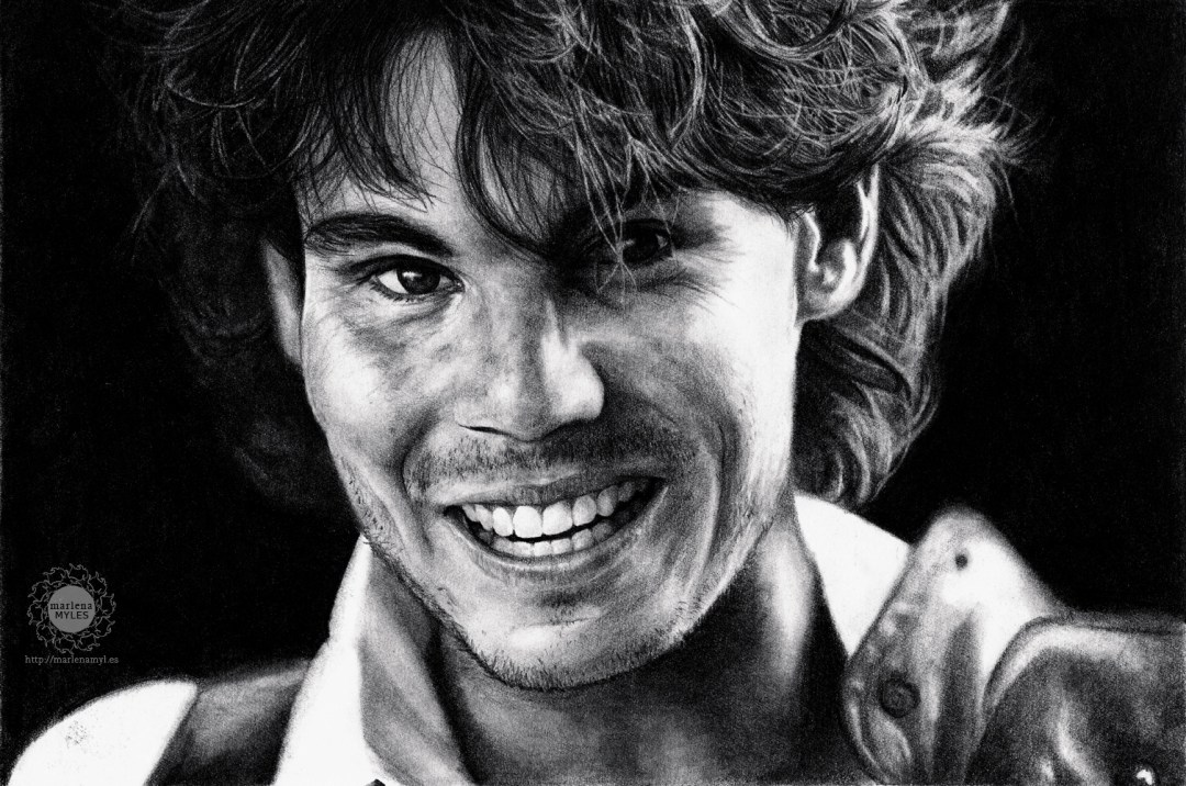 Portrait drawing of Rafael Nadal