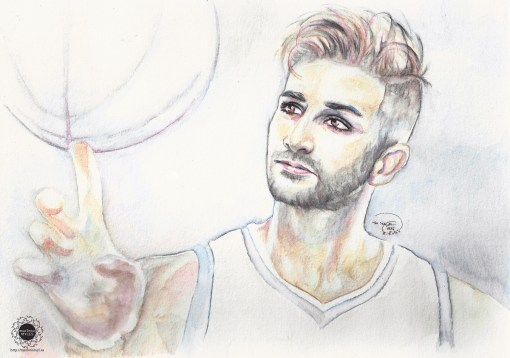 Ricky Rubio watercolor