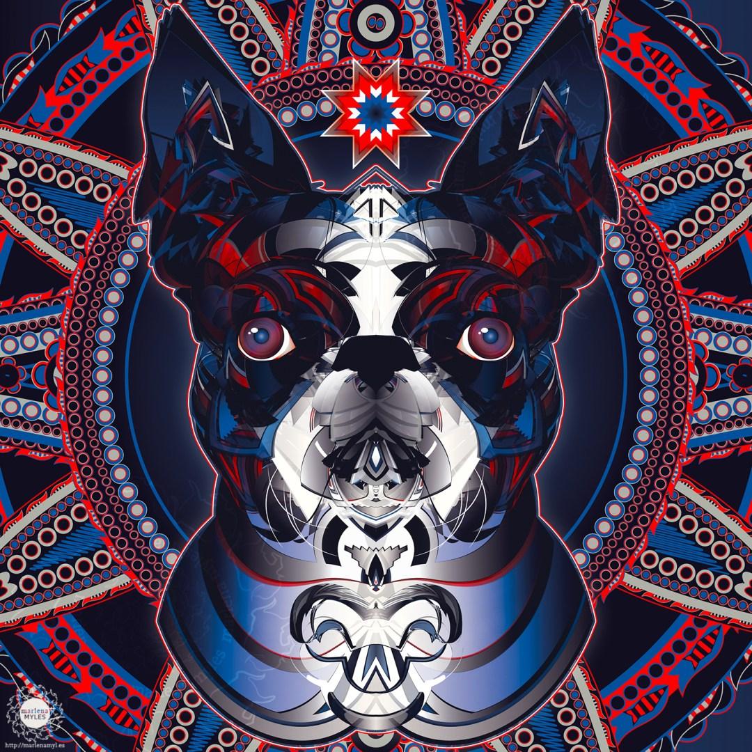 sunka nagi, dog spirit | Native American Art