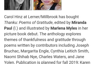 Illustrator debut for Thanku: Poems of Gratitude