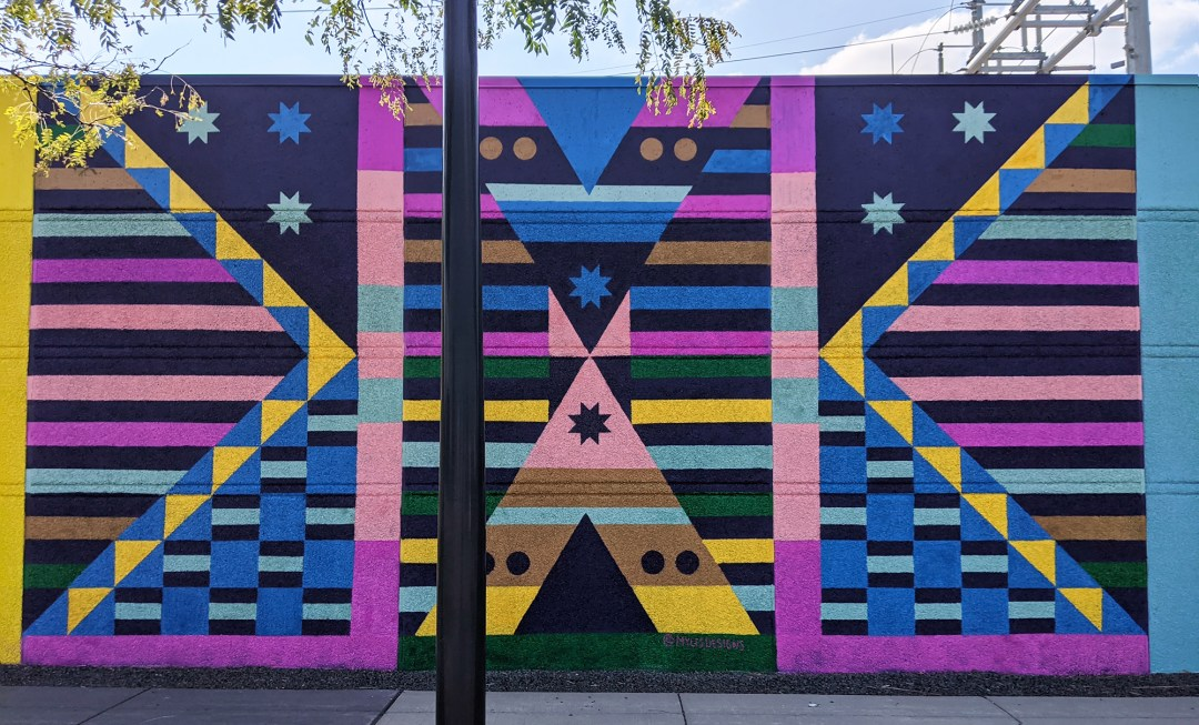 The Kaposia Times mural by Marlena Myles