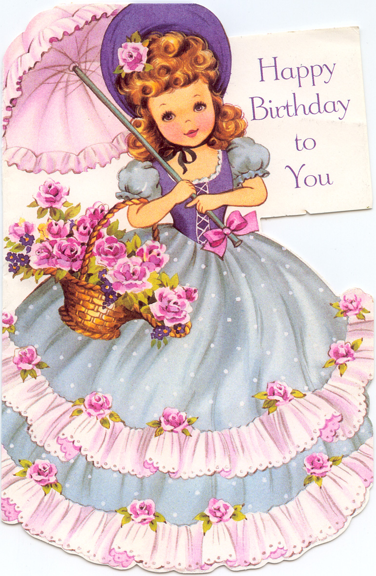 Art birthday, Vintage graphic and Birthday greeting card