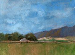 Oakdale Ranch, oil, 6 x 8 inches, oil on canvas panel. This painting was jurored into the top ten at the Yolo Arts & Ag Exhibit 2015, SOLD