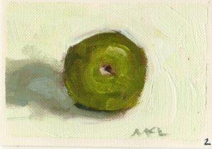 Found Green Apple_oil_080115_2.5x3.5
