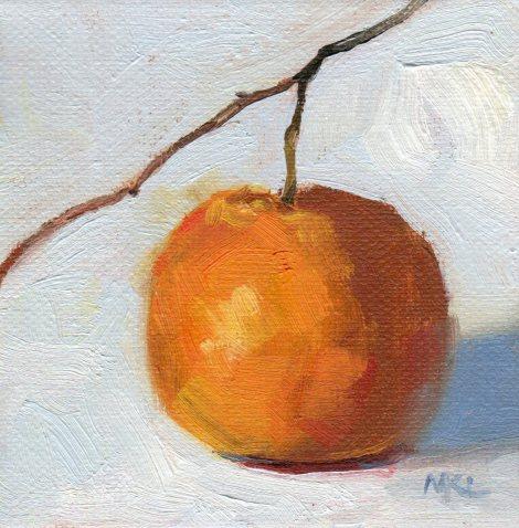 Little Orange with Stem 4x4x1.5 oil 012216