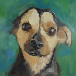 Topher, oil on stretched canvas, oil on canvas, 10 x 10 x 1 1/4 in.
