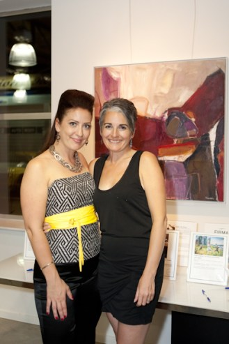 I'm with beautiful artist and friend, Malene Grotrian at her fundraiser for Ovarian Cancer Research.