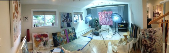 My studio on a busy day!
