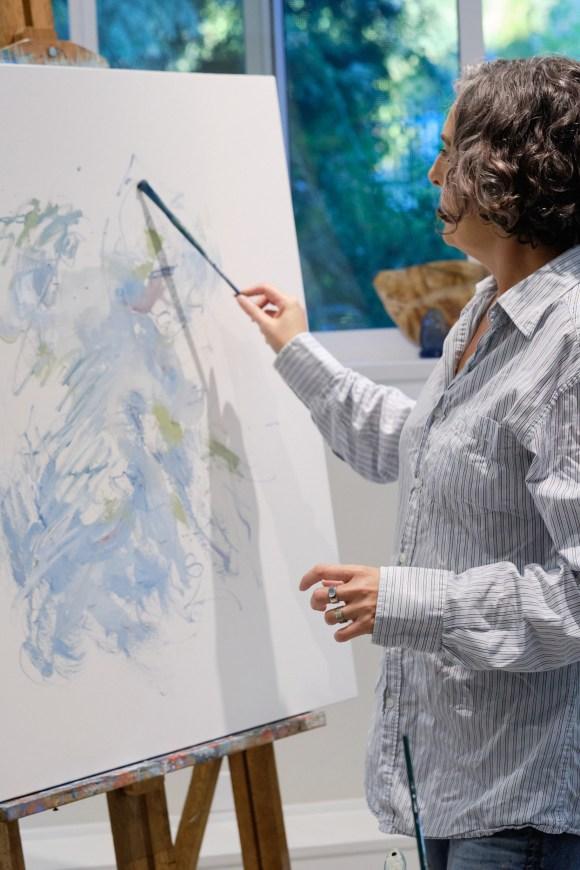 Marlene Lowden in her studio