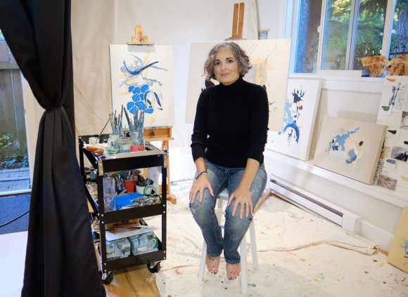 Marlene Lowden in her studio