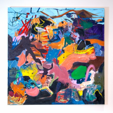 """the bright midnight, oil on canvas 36"""" x 36"""" by Marlene Lowden"""