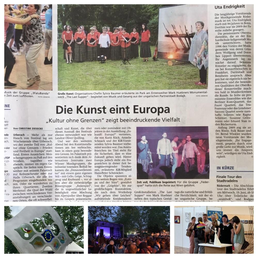 Rödermark  Kulturfestival Zeitungsbereichte