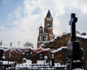Janos Hunyadi's tower. Marco histórico de Zemun (município Sérvio do distrito de Belgrado). Com vista para o rio Danúbio.
