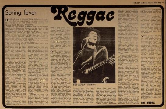Melody Maker Jun 9, 1973 wailers