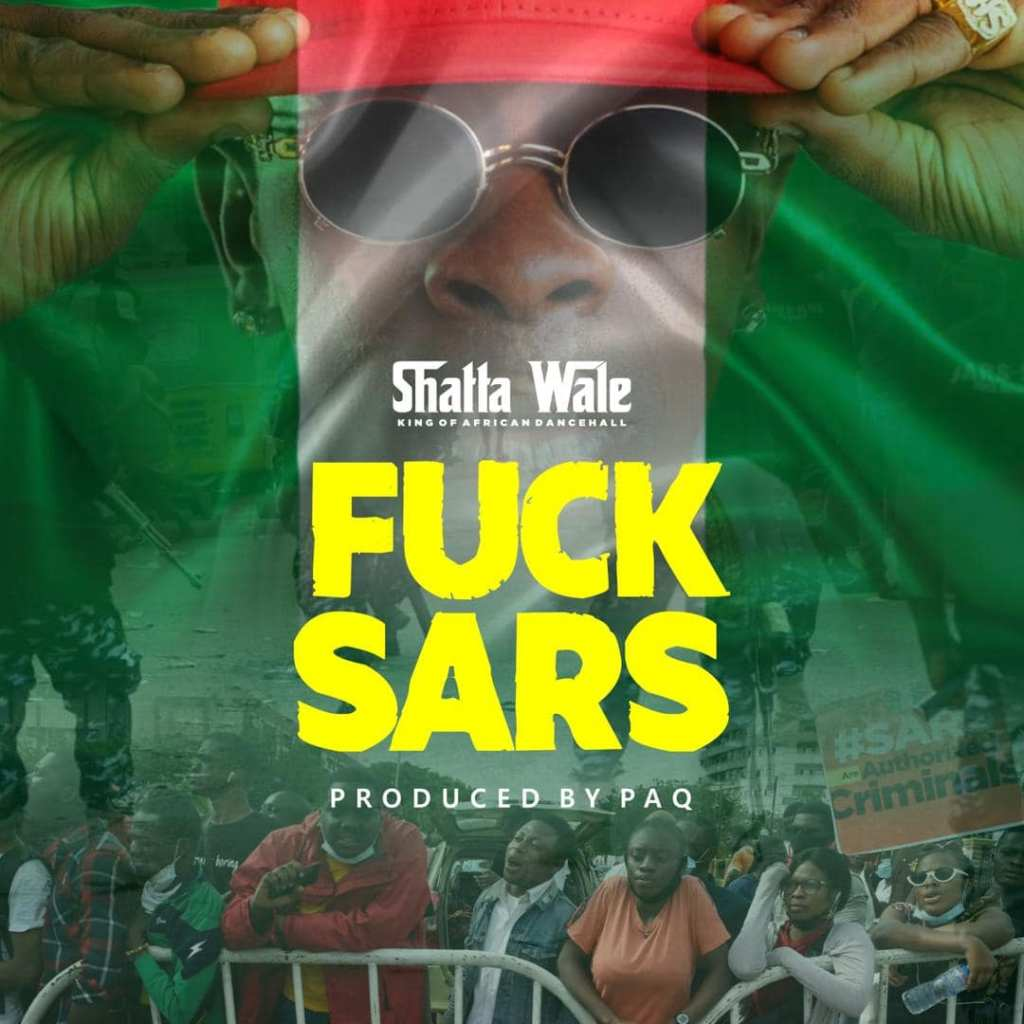 """Shatta Wale joins millions of Nigerians to revolt against the Special Anti-Robbery Squad (SARS).  The new song """"Fvck Sars"""" was produced by Ghanaian hit-maker, Paq."""