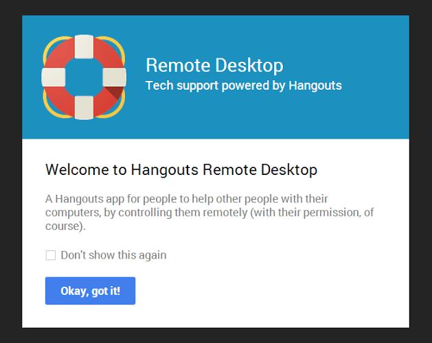 Remote desktop for Google HOA