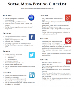 social media posting checklist