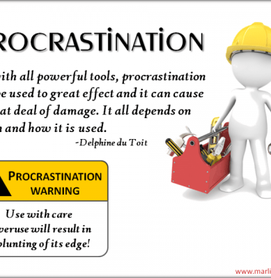 Procrastionation – Another Perspective