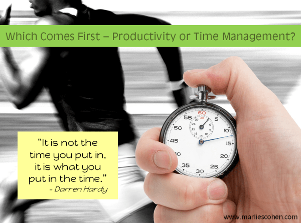 productivity or time management