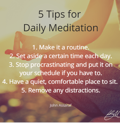 5 daily meditation tips