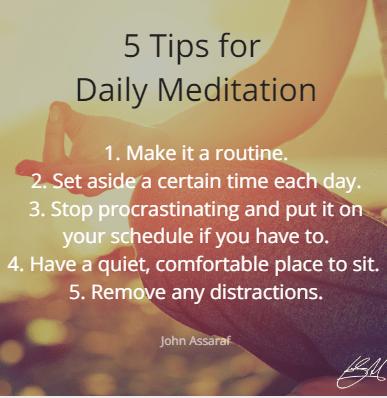 5 daily meditation tips