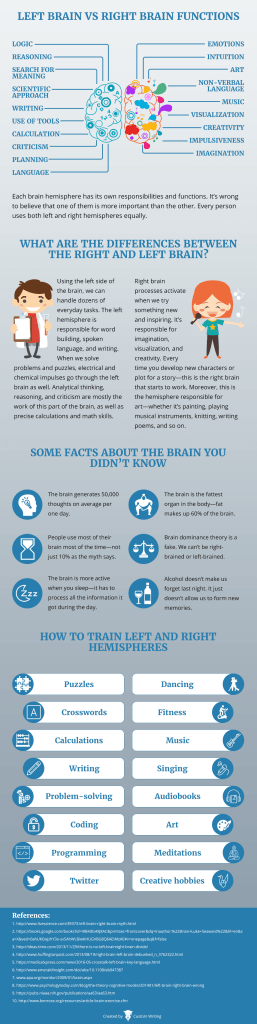 brain function infographic