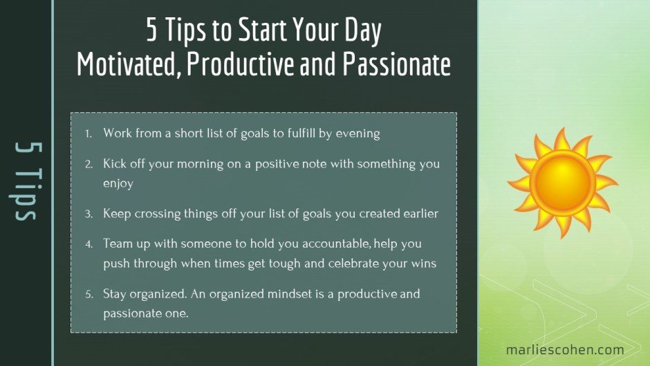 5 tips for a productive day