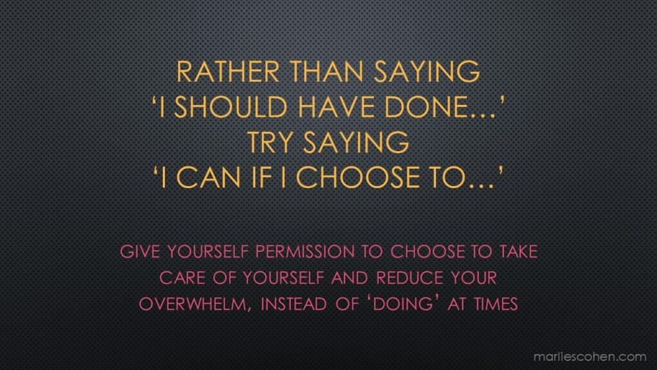 I choose to ...