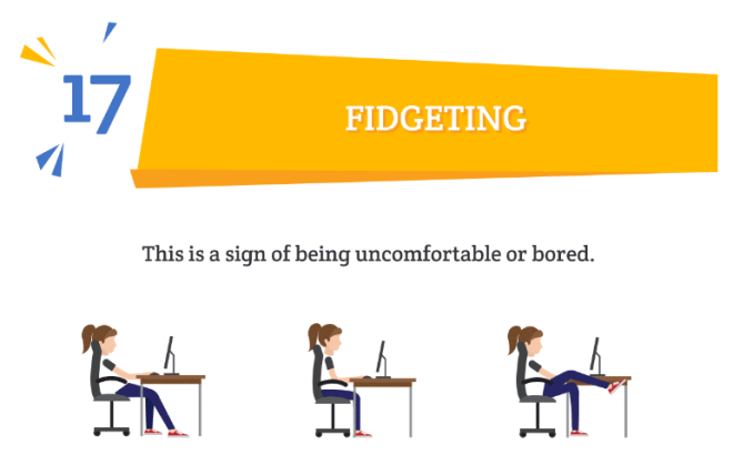 body language mistake fidgeting #17